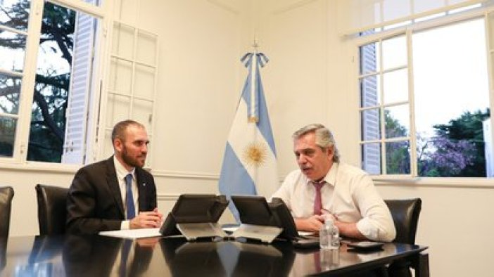 Guzmán junto al presidente Alberto Fernández (Télam)