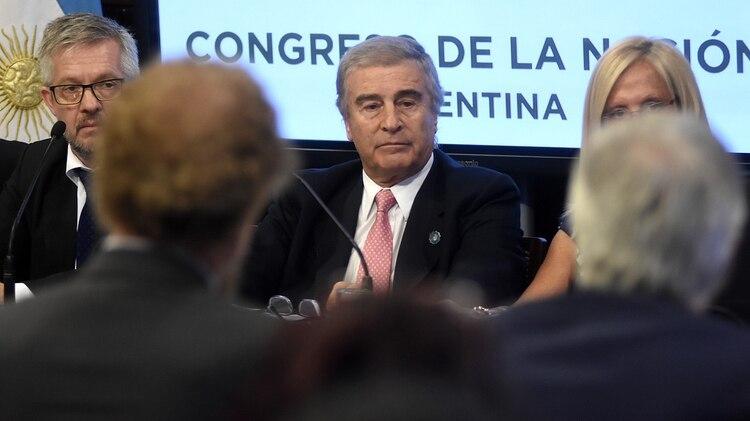Oscar Aguad ante la Comisión Bicameral (Nicolás Stulberg)