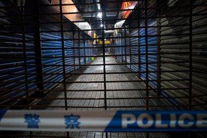 Para la primera quincena de enero, el mercado ya había sido cerrado y desinfectado (AFP)