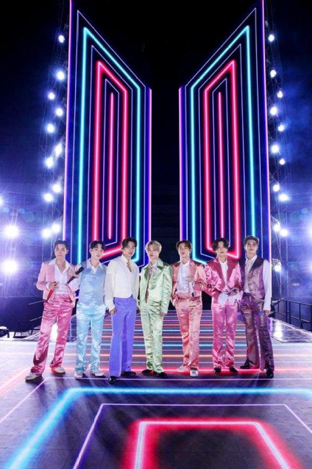 La banda BTS se presentó en los American Music Awards (Crédito: American Broadcasting Companies, Inc. / ABC / AFP)