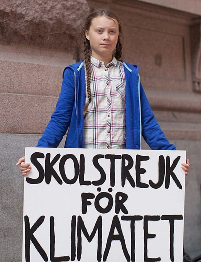 """Gretamoviliza a los jóvenes del mundo todos los viernes para concientizar que """"No hay un Planeta B""""(Wiki Commons)"""