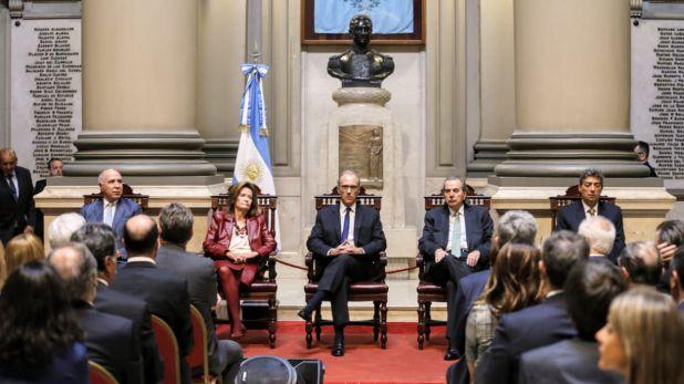 Los integrantes de la Corte Suprema actual (foto Nicolás Aboaf)