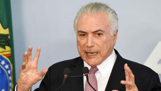Michel Temer, presidente de Brasil (AFP)