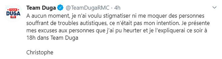 Tweet de Christophe Dugarry