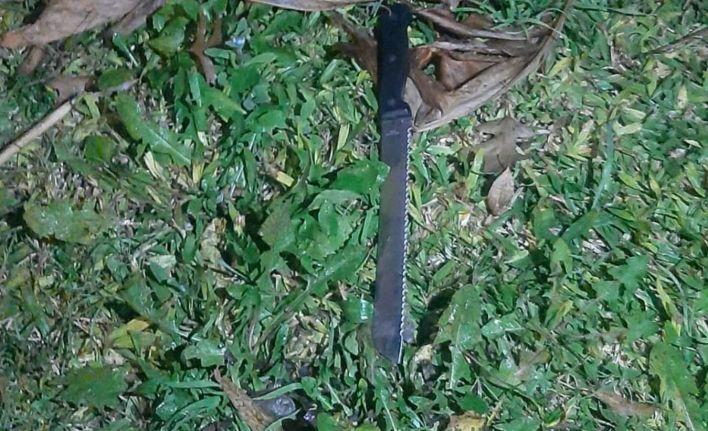 El cuchillo empleado en la agresión por Chano.