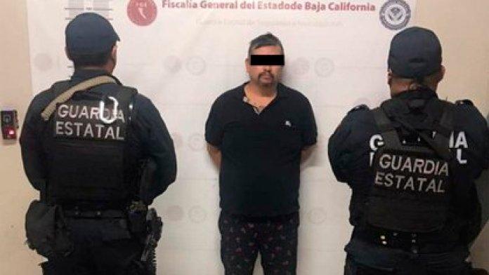 """Samuel """"N"""" was arrested in Tecate, Baja California (Photo: Facebook / @fgebaja)"""