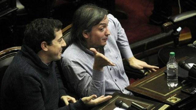Diputados Wado de Pedro y Maximo Kirchner 1920