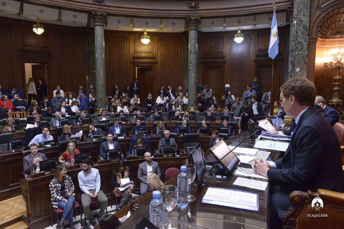 La sesión el 23 de mayo de este año en que la Legislatura aprobó el pliego de Mahiques (Foto: Legislatura Ciudad de Buenos Aires)