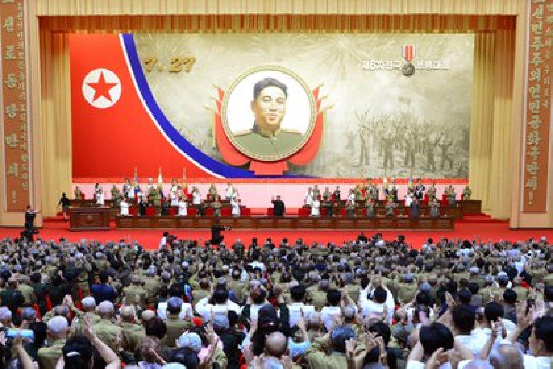 Kim Jong Un durante un discurso. POLITICA INTERNACIONAL -/KCNA/dpa