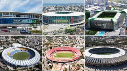 Los seis estadios que albergarán los partidos de la Copa América