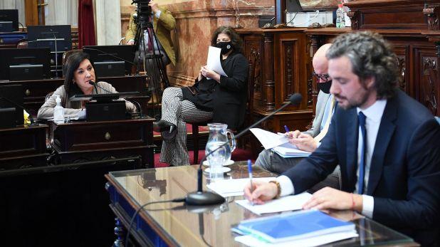 Santiago Cafiero, brinda su segundo informe de gestión ante el Senado