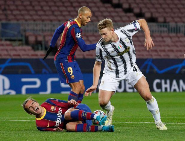 El Barcelona está en octavos de final de la Champions League a pesar de caer contra la Juventus -REUTERS