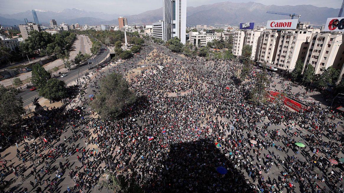 La movilización de este martes (EFE)