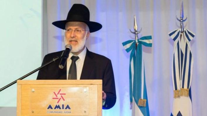 Gabriel Davidovich, rabino principal de AMIA.