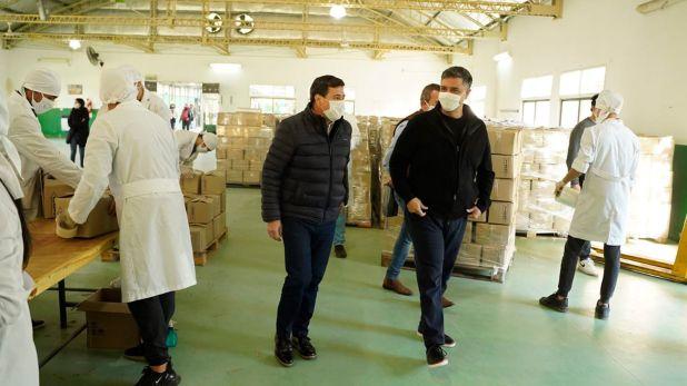 Jorge Macri y Daniel Arroyo visitaron el Centro Logistico de Asistencia Alimentaria