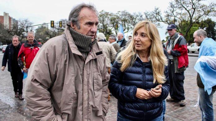 Alejandra Vucasovich y Carlos Reutemann