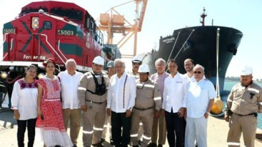 Este nuevo Tren del Istmo de Tehuantepec no tiene todavía asignada una parte del presupuesto para el Paquete Económico 2021 (Foto: presidencia)