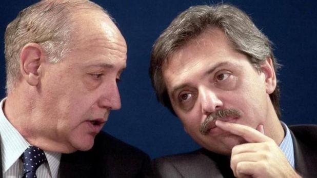 Roberto Lavagna y Alberto Fernández cuando compartieron gabinete durante el gobierno de Néstor Kirchner