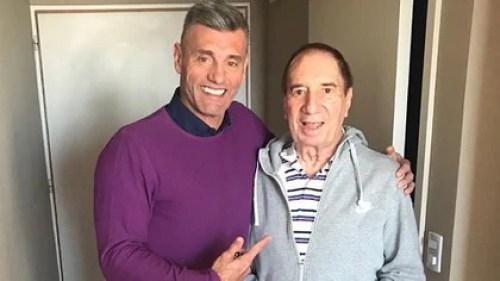 Bilardo junto a Sergio Goycochea en una de las últimas fotos del Narigón que trascendieron a los medios