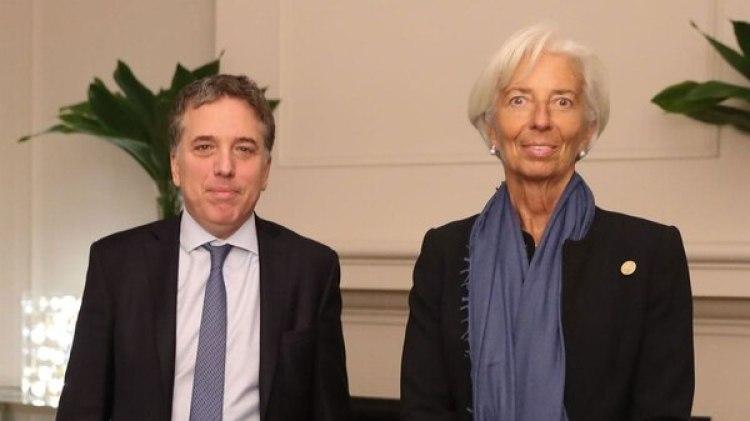 Lagarde y Dujovne, anoche en Olivos