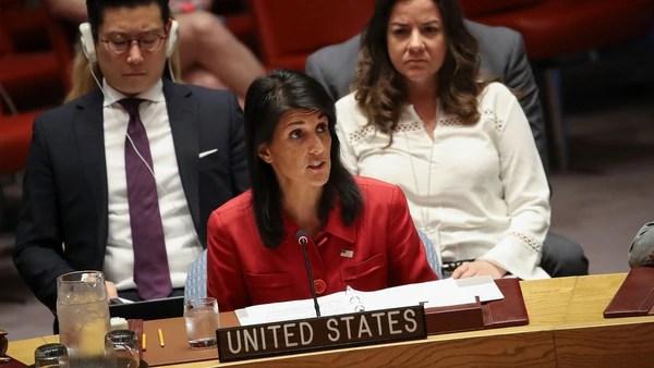 Nikki Haley, embajadora de EEUU ante la ONU (Getty Images)