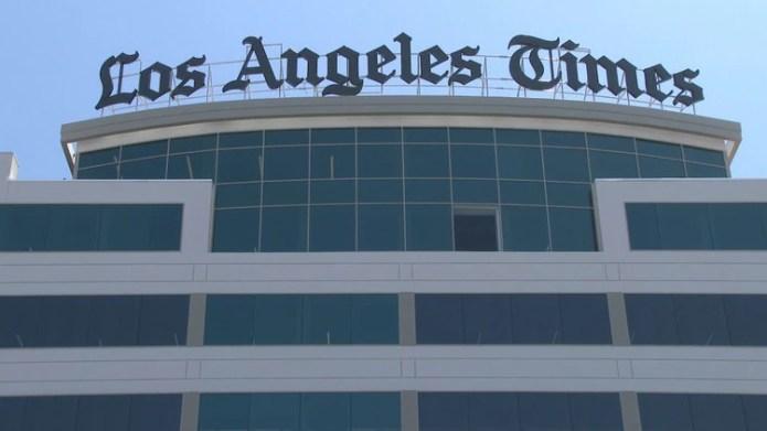 El nuevo edificio del Los Ángeles Times, uno de los periódicos afectados