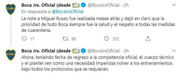 Tweets Boca Juniors