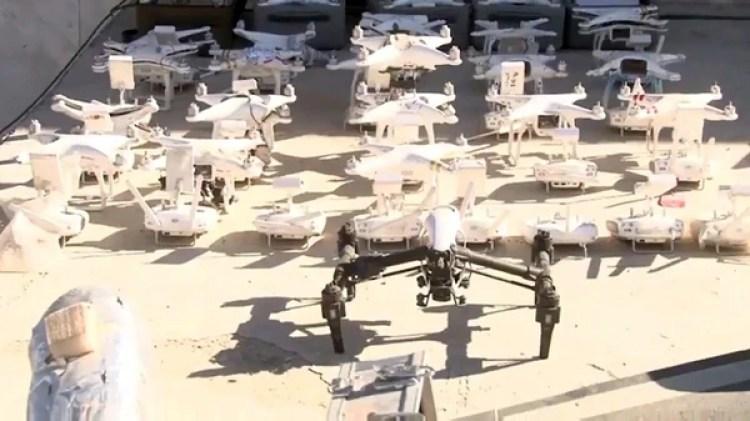 También había drones