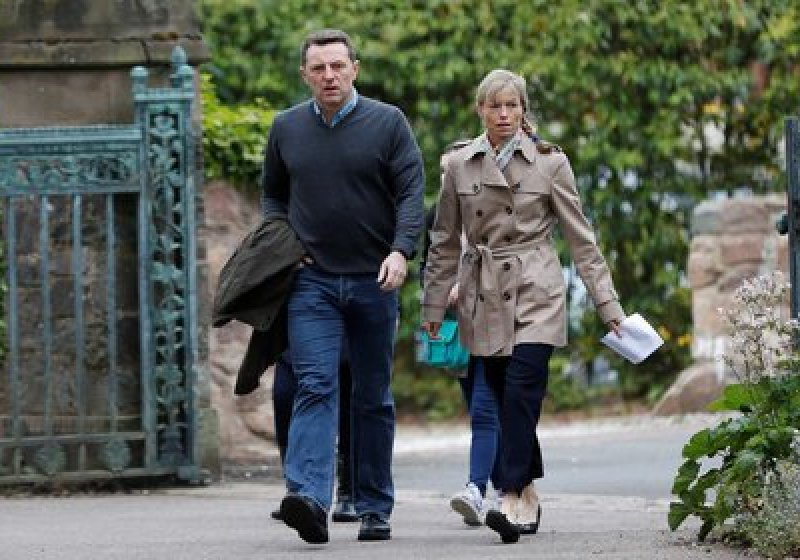 Kate and Gerry McCann as they arrived at a service to commemorate the 10th anniversary of the disappearance of their daughter Madeleine, at the Church of St. Mary and St. John, in Rothley, UK, in a file photo ( Reuters)