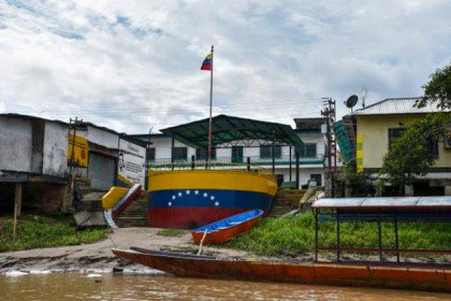 Vista de la ciudad de La Victoria, en Apure (Daniel Fernando MARTINEZ CERVERA / AFP)