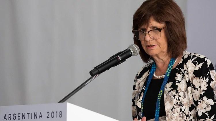 Patricia Bullrich defendió el protocolo de Seguridad (Adrián Escandar)