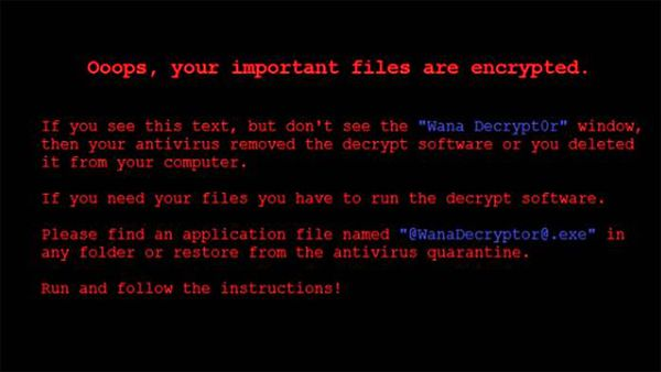 El mensaje que aparece en las computadoras de las víctimas de esta versión del WannaCry