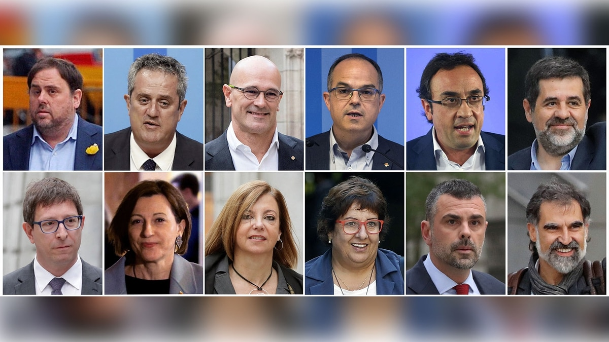 Quiénes son los 12 independentistas catalanes condenados por la justicia española