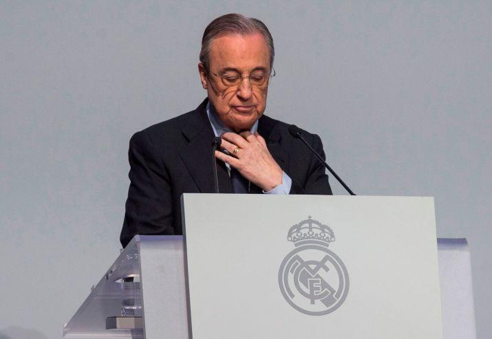 Florentino Pérez fue elegido como presidente de la Superliga (Efe)