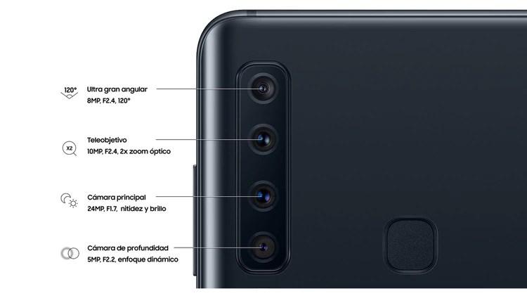 Las cuatro cámaras traseras del Samsung Galaxy A9
