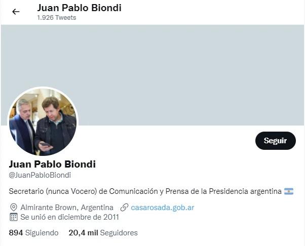 Biondi Twitter