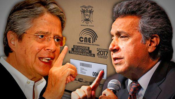 El opositor Guillermo Lasso y el oficialista Lenín Moreno, los protagonistas del ballotage ecuatoriano