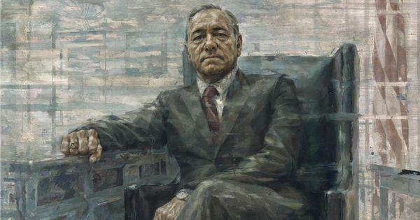 Una imagen de lo que luciría la pintura de Frank Underwood en la casa blanca
