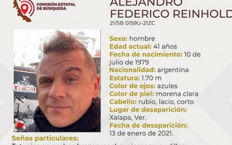 Alejandro Federico Reinhold, an Argentine citizen, is wanted by authorities in Veracruz (Photo: Courtesy)