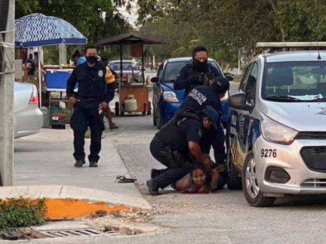 Una mujer fue sometida y presuntamente asesinada por elementos de la policía municipal de Tulum (Foto: Facebook Inspector Nocturno Cancún)