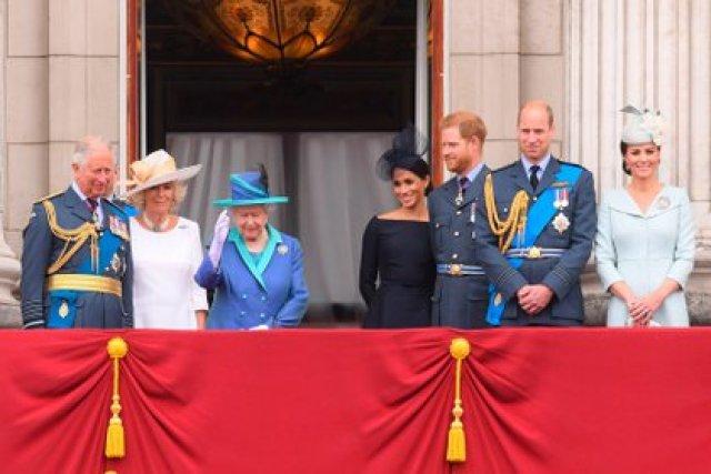 Antes del Megxit, la familia real en el balcón del Palacio de Buckingham