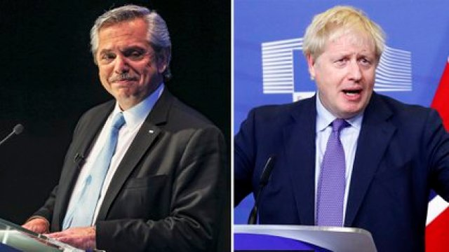 Alberto Fernández y Boris Johnson