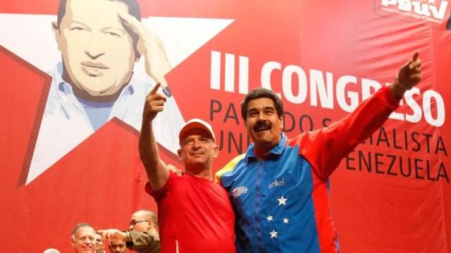 Hugo Carvajal con Nicolás Maduro