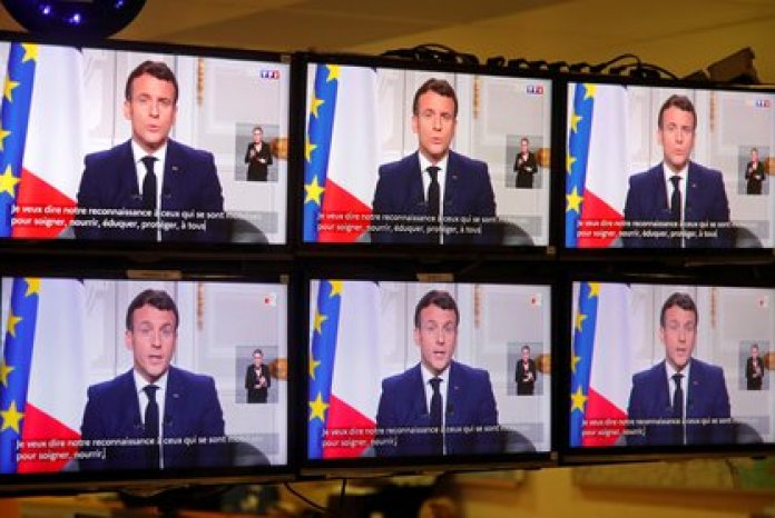 Emmanuel Macron brindó este jueves un discurso de fin de año (REUTERS/Charles Platiau)