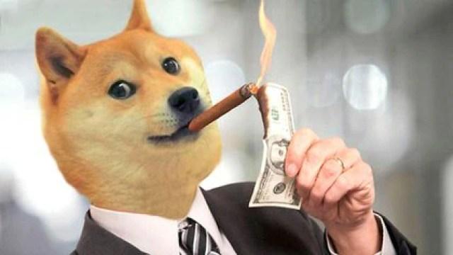 Uno de los tantos memes que circula en las redes sobre dogecoin