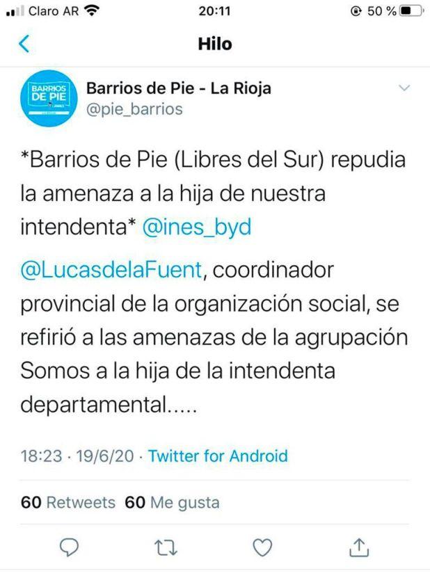 Amenazas en La Rioja