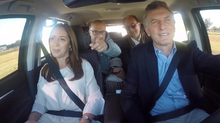 Macri y Vidal en la nueva metodología de campaña electoral