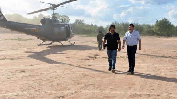 El gobernador salteño Gustavo Sáenz, junto al ministro de Desarrollo Social, Daniel Arroyo.
