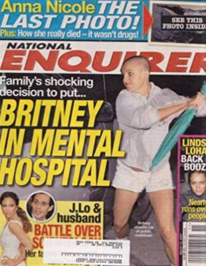 The incident of Britney and the umbrella, more than 10 years ago