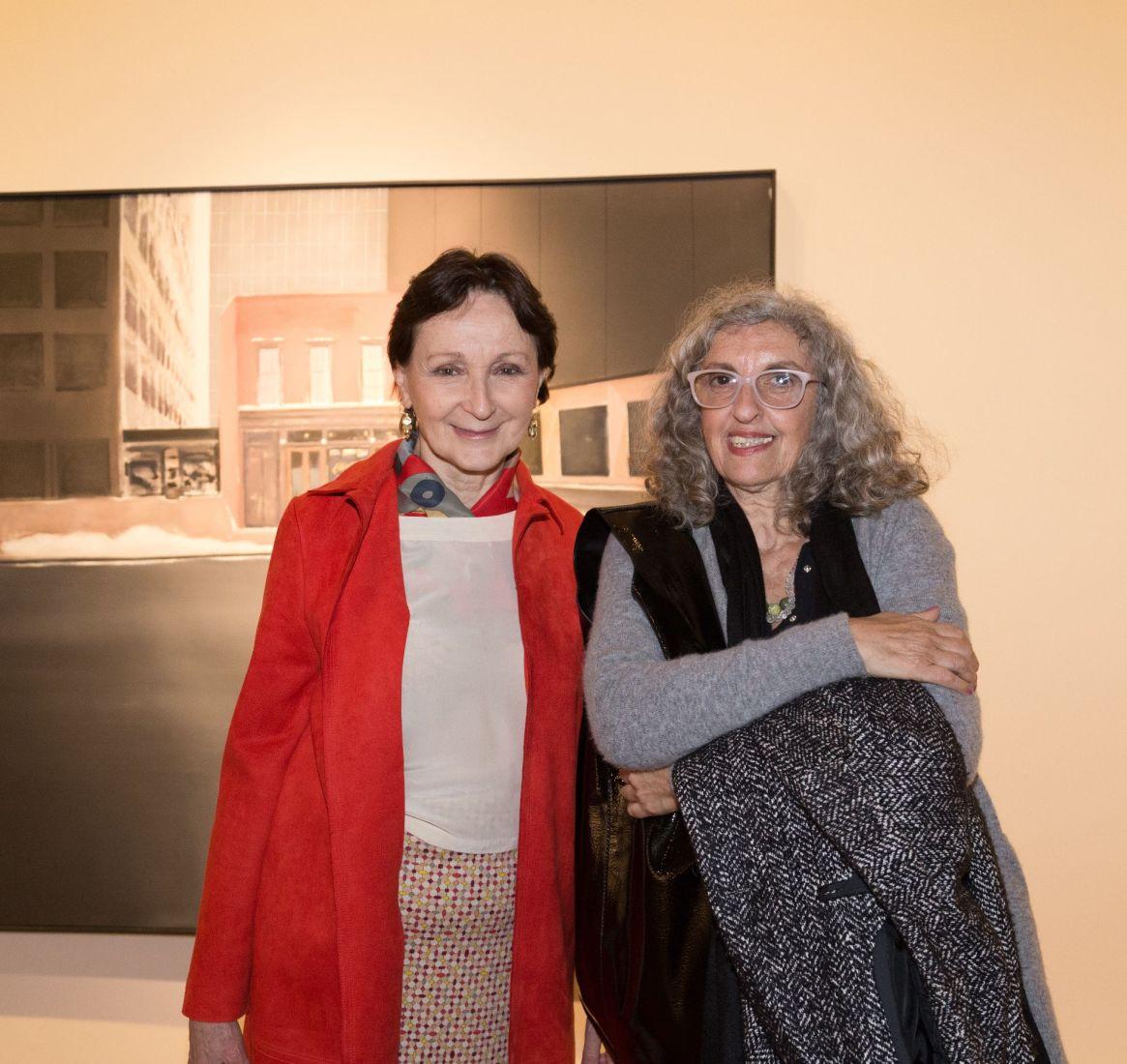 Teresa Anchorena, presidente de la Comisión Nacional de Monumentos, de Lugares y de Bienes Históricos, y Marcia Schwartz